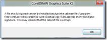 Error Install CorelDRAW X5