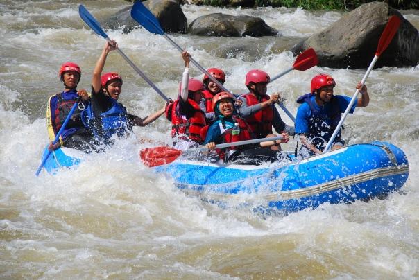 Rafting di Sungai Serayu Banjarnegara